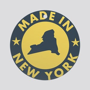 2-Made-In-nEW-yORK Round Ornament