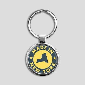 2-Made-In-nEW-yORK Round Keychain