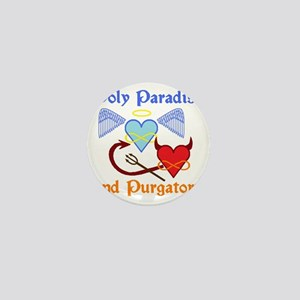 2-poly paradise  purgatory logo flier  Mini Button
