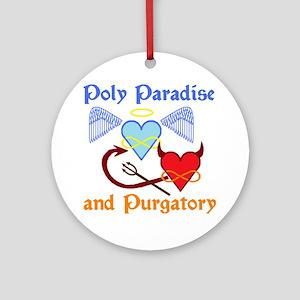 2-poly paradise  purgatory logo fli Round Ornament
