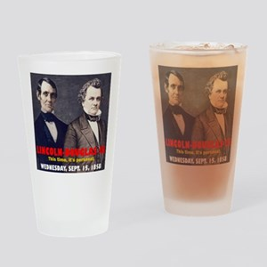 ART LINCOLN DOUGLASS IIIb Drinking Glass
