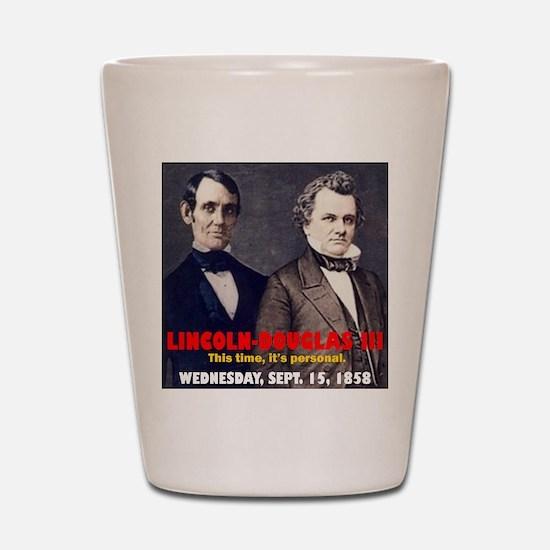 ART LINCOLN DOUGLASS IIIb Shot Glass