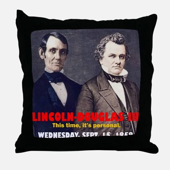 ART LINCOLN DOUGLASS IIIb Throw Pillow