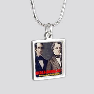 ART LINCOLN DOUGLASS IIIb Silver Square Necklace