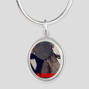 ART LINCOLN DOUGLASS IIIb Silver Oval Necklace