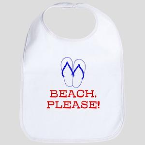 BEACH, PLEASE! Cotton Baby Bib