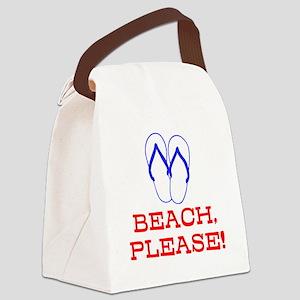 BEACH, PLEASE! Canvas Lunch Bag