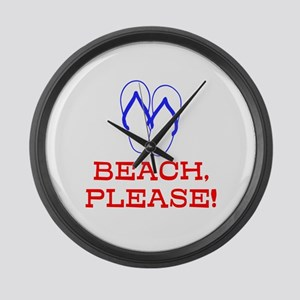 BEACH, PLEASE! Large Wall Clock