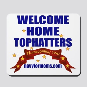 navy 4 moms tophatters Mousepad