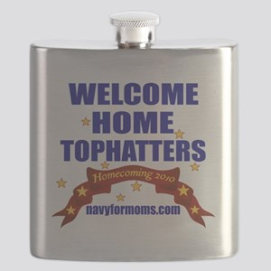 navy 4 moms tophatters Flask
