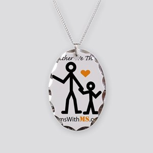 Moms With MS Necklace Oval Charm