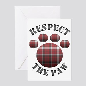 Aspca greeting cards cafepress respect the paw greeting card m4hsunfo