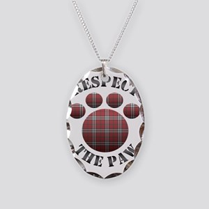 Respect The Paw Necklace Oval Charm