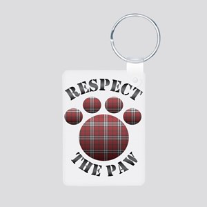 Respect The Paw Aluminum Photo Keychain