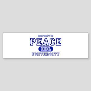 Peace University Bumper Sticker