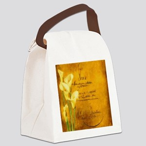 Soft golden calla lilies Canvas Lunch Bag