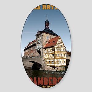 Bamberg Altes Rathaus Sticker (Oval)