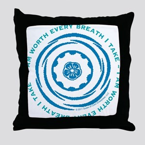 Worth Breath Teal 2 Throw Pillow