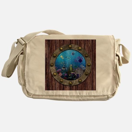 Underwater Love Porthole Messenger Bag