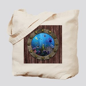 Underwater Love Porthole Tote Bag