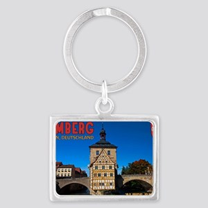 Bamberg Altes Rathaus with CoA Landscape Keychain