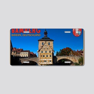Bamberg Altes Rathaus with  Aluminum License Plate