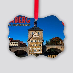 Bamberg Altes Rathaus with CoA Picture Ornament