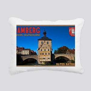 Bamberg Altes Rathaus wi Rectangular Canvas Pillow