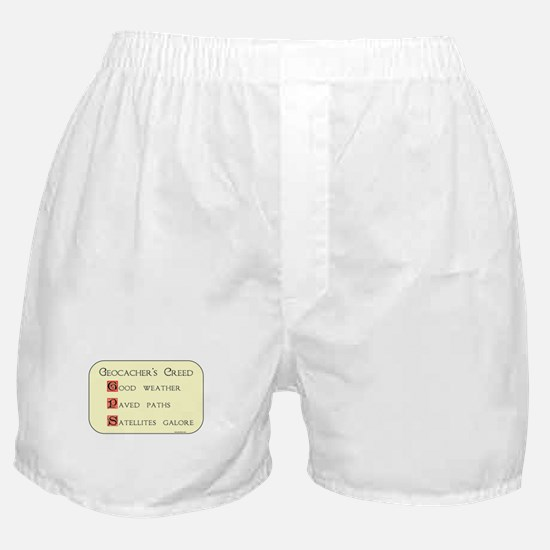 Geocachers Creed Boxer Shorts