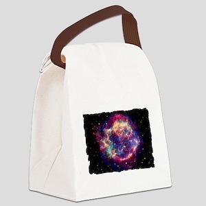 Cassiopia A Shirt Dark Canvas Lunch Bag