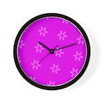 Fucshia Pink Ribbons Circle Join 32 Wall Clock