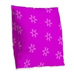 Fucshia Pink Ribbons Circle Join 32 Burlap Throw P