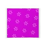 Fucshia Pink Ribbons Circle Join 32 Throw Blanket