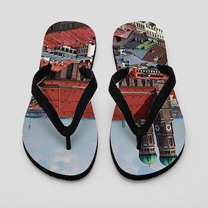 Munich Frauenkirche Portrait Flip Flops