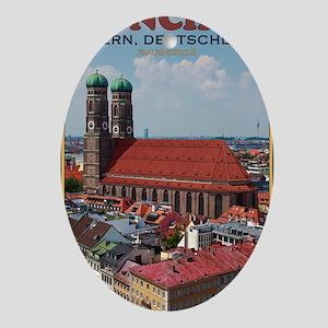 Munich Frauenkirche Portrait Oval Ornament