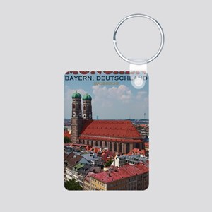 Munich Frauenkirche Portra Aluminum Photo Keychain