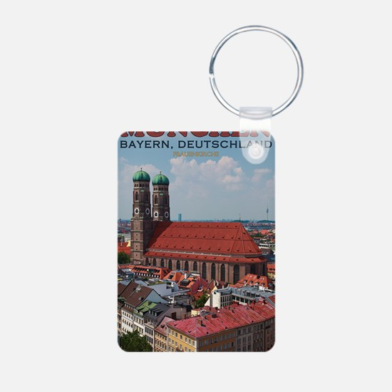 Munich Frauenkirche Portra Aluminum Photo Keychain