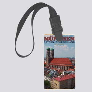 Munich Frauenkirche Portrait Large Luggage Tag