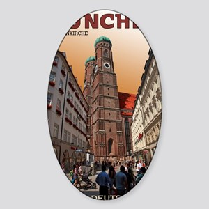 Munich Frauenkirche Sticker (Oval)
