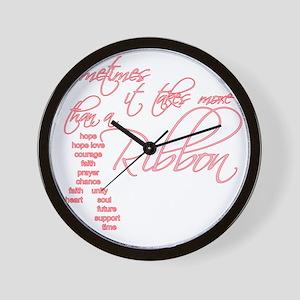 More Than A Ribbon Wall Clock