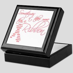 More Than A Ribbon Keepsake Box