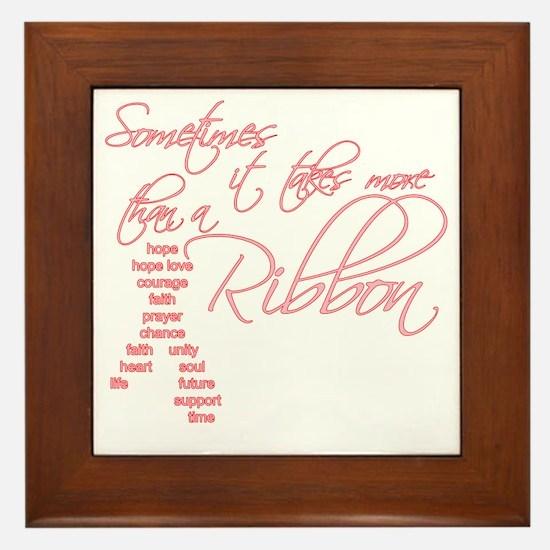 More Than A Ribbon Framed Tile