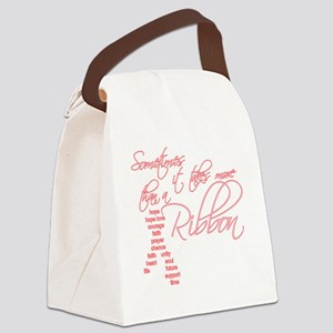 More Than A Ribbon Canvas Lunch Bag