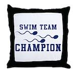 Swim Champ Throw Pillow