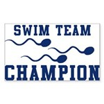 Swim Champ Rectangle Sticker