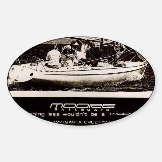 mooread_3 Sticker (Oval)