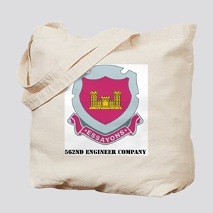 562ND ENGINEER CO WITH TEXT Tote Bag