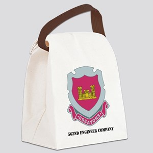 562ND ENGINEER CO WITH TEXT Canvas Lunch Bag