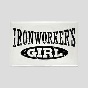 Ironworker's Girl Rectangle Magnet