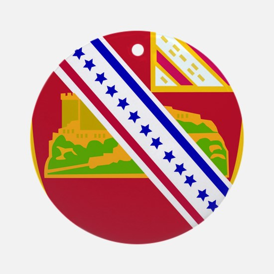 DUI - 17th Field Artillery Regiment Round Ornament